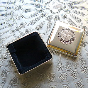 Birthday Silver Trinket Box - jewellery storage & trinket boxes