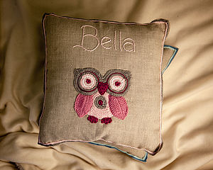 Personalised Princess Owl Cushion - cushions