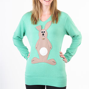 Easter Bunny Jumper With Squeaky Tummy - jumpers & cardigans