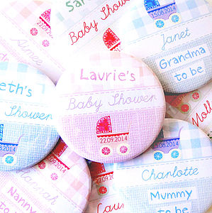 Personalised Baby Shower Badges