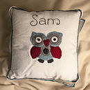 Personalised Snowy Owl Cushion