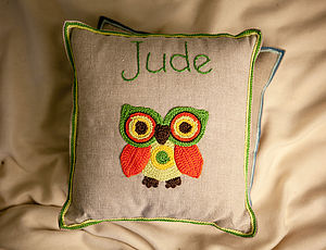 Personalised Forest Owl Cushion - cushions