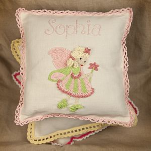 Forest Fairy Cushion, Personalised - cushions