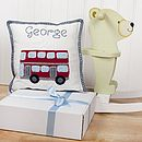 Personalised London Bus Cushion