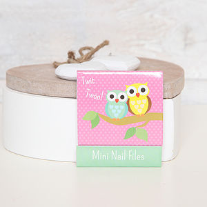Owl Matchbook Mini Nail Files