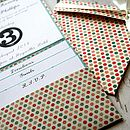 Spotty Pocket Fold Wedding Invite