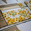 Vintage Inspired Sunflower Pocket Fold Invite