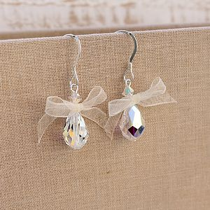 Bow Earrings Made With Swarovski Crystal