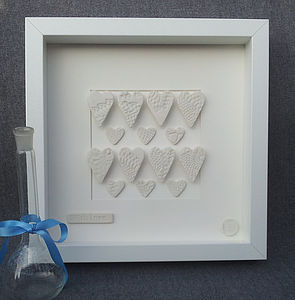 Framed Porcelain Hearts