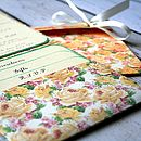 Vintage Inspired Flower Pocket Fold Invite
