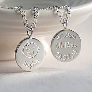 Personalised Silver New Mum Necklace - gifts for new mums