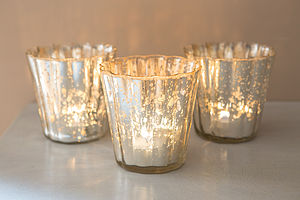Mercury Style Glass Fluted Votive - table decorations
