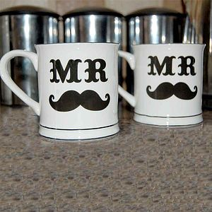 Mr And Mr Mugs Set - mugs