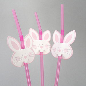 Easter Bunny Party Straws - easter decorations