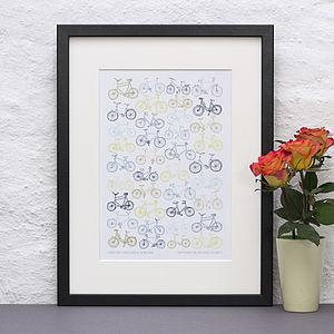 Personalised Bike Print