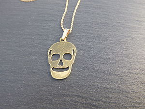 Gold Plated 14ct Skull Necklace