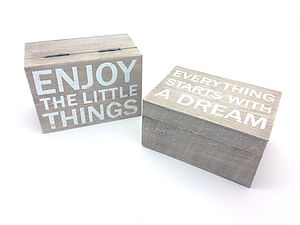Slogan Jewellery And Keep Safe Boxes Wooden