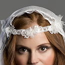Tatania Silk Flower Lace Headband