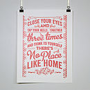 'No Place Like Home' Wizard Of Oz Poster