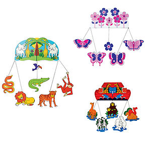 Jungle, Ark, Butterfly Or Transport Mobile - children's room accessories