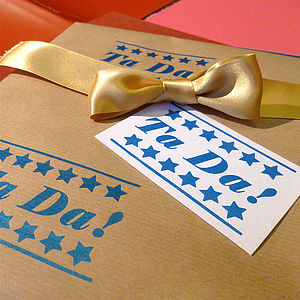 Witty Handmade Wrapping Paper - cards & wrap