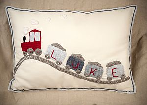 Personalised My Own Train Cushion