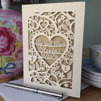 Cream card with Gold