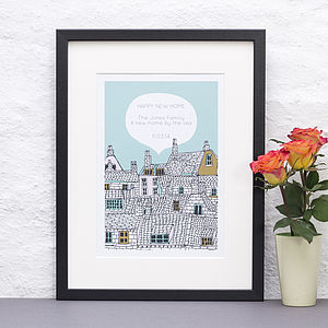 Personalised Illustrative New Home Print
