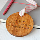 Personalised 'Amazing Adventure' Wooden Keepsake