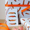 Illustrated Carrot Gift Tag