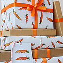 Illustrated Carrot Wrapping Paper