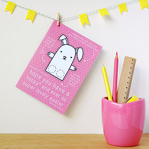 Rabbit Finger Puppet Easter Card