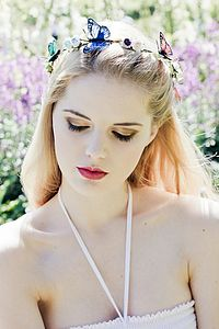 Butterfly Halo Flower Crown - summer wedding