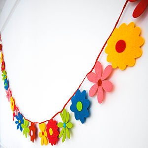 Felt Flower Bunting - party decorations