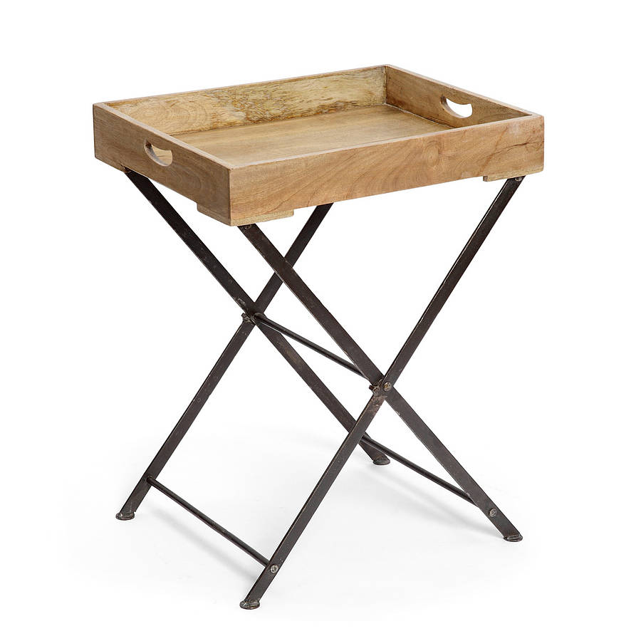 Wooden Tray Table By Within Home Notonthehighstreet Com