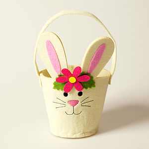 Easter Bunny Rabbit Basket - easter egg hunt