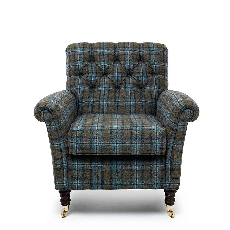 chatsworth tartan foxwood armchair by within home ...