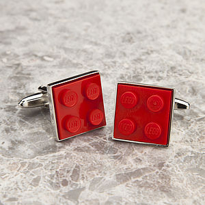 Building Brick Cufflinks Red