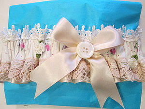 Wedding Garter - the morning of the big day