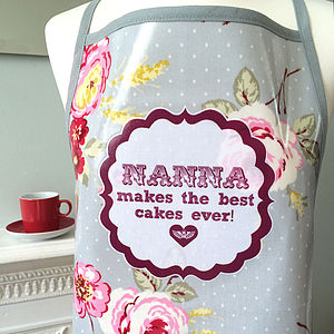 Personalised Oilcloth 'Mum Cooks…' Apron - baking