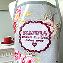 Personalised Oilcloth 'Mum Cooks…' Apron