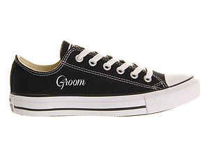 Groom Custom Wedding Converse - groomed to perfection