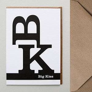 Big Kiss Greetings Card - shop by category
