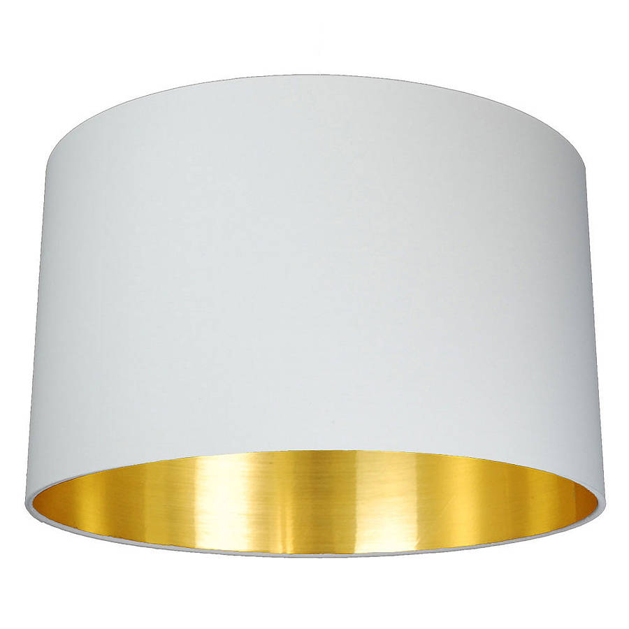 Brushed Gold Lined Lamp Shade Choice Of Colours By Quirk