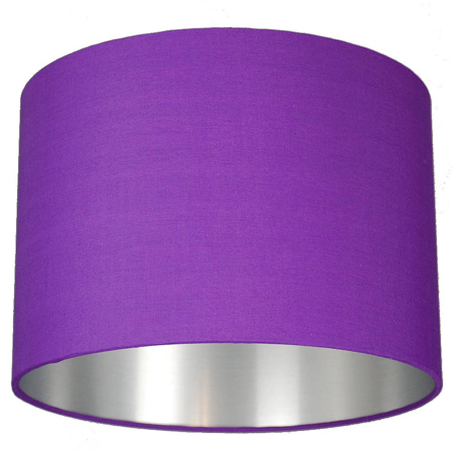 Brushed silver lined lamp shade choice of colours by quirk medium mozeypictures Images