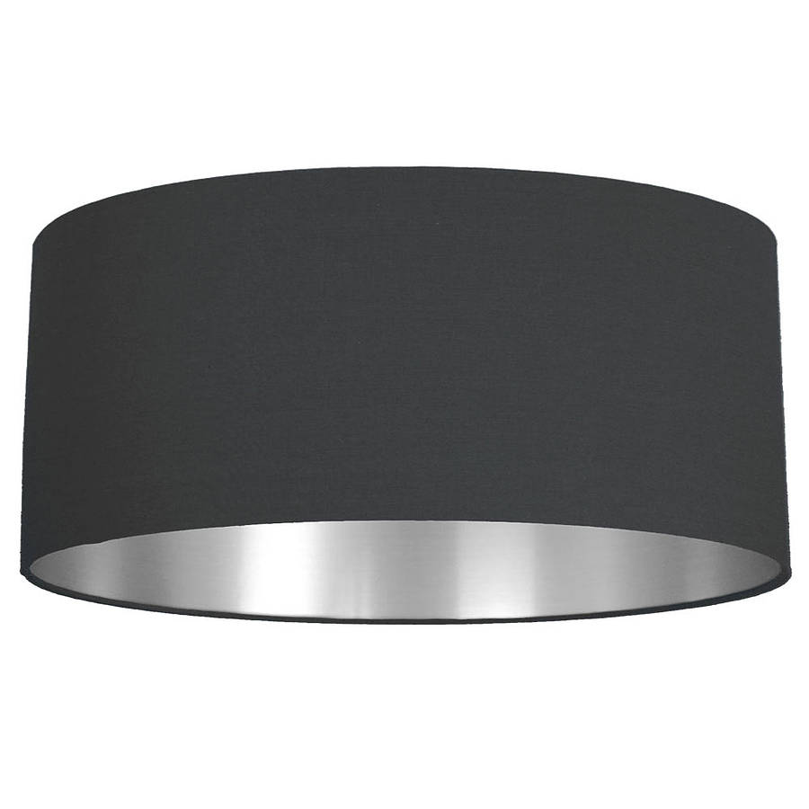 Brushed silver lined lamp shade choice of colours by quirk large aloadofball