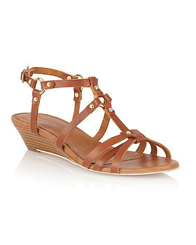 Dahlia Tan Leather Sandal