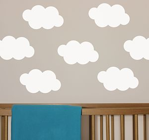 Floating Clouds Wall Stickers - children's room accessories