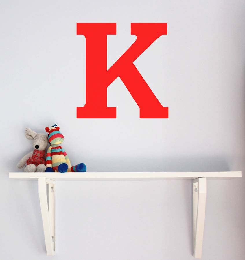 Large Letter K Wall Decor Large Letter Wall Sticker By Little Chip