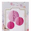 Pink Honeycomb Decorations